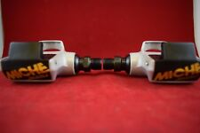 Miche Brevettato spd road racing pedals set grey Made in Italy Nos Vintage