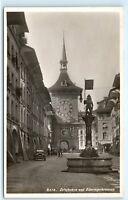 *Bern Switzerland Zeitglocken und Zahringerbrunnen Vintage Photo Postcard C43