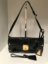 Authentic VALENTINO black patent evening shoulder bag/clutch, AMAZING!