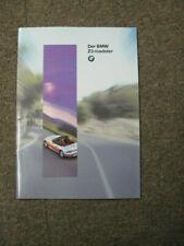 Prospekt / Katalog BMW Z3 Roadster 2/1995