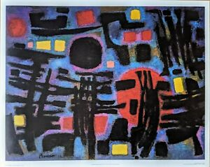 """Alfred Manessier """"THE NIGHT"""" Abrams Color Print"""