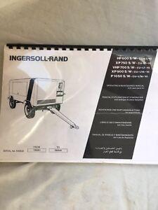 INGERSOLL RAND XP750 VHP700 XP900 AIR COMPRESSOR OPERATION PART MAINTENANCE BOOK