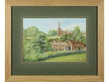 'The Dale, Hathersage, Derbyshire' - Signed Original Art Gouache. Peak District