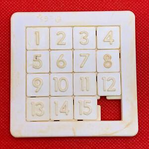 USSR Vintage Logic Game 15 Fifteen Puzzle, barley-break game