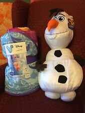 FROZEN Slumber/Sleeping Bag, 66x30 With Large Olaf Cuddle Pillow. NWT