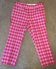 RARE Vtg 70s CUSTOMIZED Red/White Plaid CADDYSHACK Trousers Golf PANTS, MINT!!