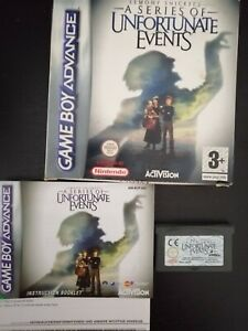 Lemony Snicket's A Series of Unfortunate Events NINTENDO GAMEBOY ADVANCE Boxed
