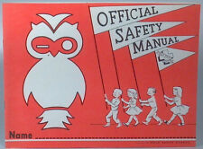 Vintage 1962 Official Safety Manual Child Safety Council WILCO Owl Stoughton WI