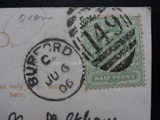 Oxfordshire Postmark: c1906 (PM) BURFORD DUPLEX (149) PC of Magdalen College