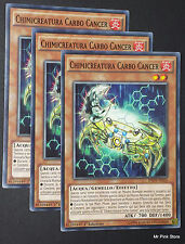 Set 3X CHIMICREATURA CARBO CANCER Crab Chemicritter INOV-IT025 Comune ITA YUGIOH