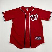 Majestic Washington Nationals Jersey Mens M Red Bryce Harper #34 MLB Baseball