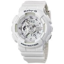 Casio Baby-G Analog-Digital Dial White Resin Strap Ladies Watch BA110-7A3CR
