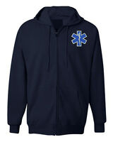 American Military Jacket Zipper Hoodie EMS EMT Emergency Medical Services Parame
