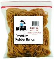 """Rubber Band Depot, Size #33 (3-1/2"""" x 1/8'') (1/4 Pound) Made in USA"""