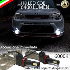 KIT FULL LED KIA SOUL II LAMPADE H8 FENDINEBBIA CANBUS 6400L 6000K