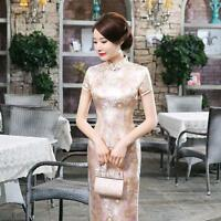2017 Chinese Vintage Qipao Women's Long Qipao Cheongsam Evening Party dress Size
