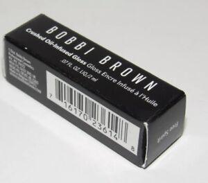 Bobbi Brown FREE SPIRIT Crushed Oil Infused Lip Gloss Travel Size NIB 0.07 Oz