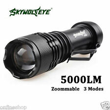 Super Bright Focusable 5000LM 3 Modes XML Q5 Zoomable LED Flashlight Torch Lamp