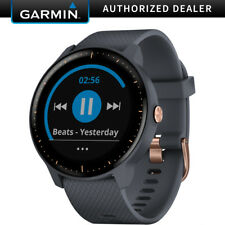 Garmin Vivoactive 3 Music GPS Smartwatch- Granite Blue+Rose Gold-(010-01985-31)