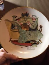 Plate~Normann Rockwell Gorham 1973 Winter~Gaily Shering (Vintage)
