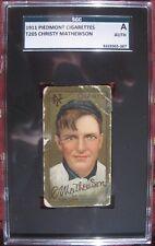 1911 T205 Christy Mathewson SGC Authentic Piedmont Cigarette psa bvg t206 bgs rc