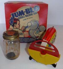 Vintage JUM-BLO Bubble Machine Gun Original Box Burroughs Enterprises