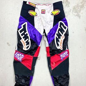 Vintage 1994 Thor Racing Velocity Motocross Pants 36 - emig fox axo moto x