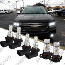 For Chevy Suburban Tahoe 2007 14 6x Led Headlight Fog Light Bulbs Combo Kit Fits 2007 Chevrolet Suburban 1500
