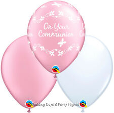 30 Girls Holy Communion Pink + White Helium / Air Balloons Party Decorations