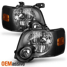 Fit 2006 2007 2008 2009 2010 Ford Explorer Black Headlights Lamps Replacement