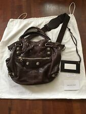 Sac cuir it bag BALENCIAGA pompon giant Marron leather city