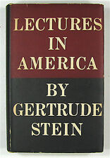 LECTURES in AMERICA by GERTRUDE STEIN First Edition, First Printing, 1935 VG
