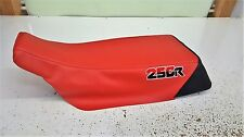 HONDA trx 250r trx250r seat cover  86 87 88 89 custom logo black and red 250r