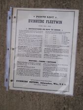 1950 Evinrude Fleetwin 4434  4435 Outboard Motor Parts List MORE IN OUR STORE  L