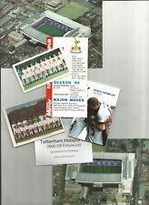 TOTTENHAM HOTSPUR postcards, fixture lists etc