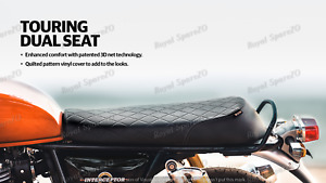 "Royal Enfield ""PREMIUM TOURING DUAL SEAT, BLACK"" For GT 650 & INTERCEPTOR 650"