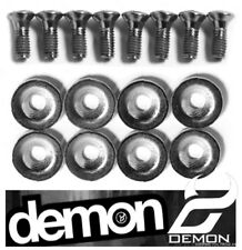 DEMON  Snowboard Binding Screw Set - 4 SIZES (8 Fixings Hardware  Bolts Washers)
