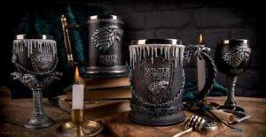Game of Thrones Mug Coffee Water Beer Tankard Iron Winter is Coming Stark Glass
