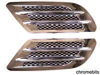 CHROME Capot voiture Air Flow admission latéral aile ventilateur