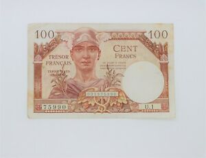 billet 100 francs Trésor Français France 1947