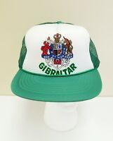 Vintage Gibraltar Green Mesh Trucker Cap Snapback Hat