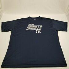 Mlb Genuine Merchandise New York Yankees Navy Blue Athletic Shirt Mens 3Xl (Ba4)