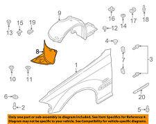 BMW OEM 01-05 325i Front Fender-Liner Splash Shield Extension Right 51718193812