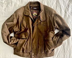 EUC Leather Bomber Jacket Adventure Bound by Wilson XL Thinsulate lining