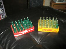 "2 Vintage ""Mini"" Coca Cola Crate with Bottles"
