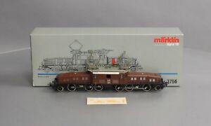 Marklin 3756 HO Scale SSB CL Be 6/8 Krokodil Green w/Digital/Box