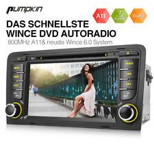 "Pumpkin 7"" Autoradio DVD GPS Navi Bluetooth Touchscreen USB DVBT AUX Für Audi A3"