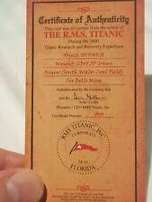 Titanic Coal Steenkool Charbon