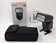 NEW Canon Speedlite 580EXII Flashlight with Soft Case Mini Stand Instruction BOX