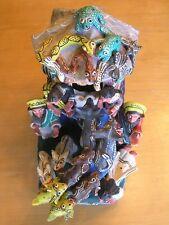 Vintage Ocumicho Mexican Folk Art Pottery Sculpture Saints Men Angel Animals